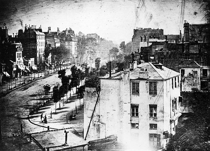 Une vue du boulevard du Temple à Paris en 1839