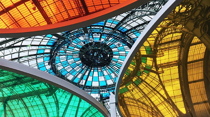 Variations chromatiques au Grand Palais. © Didier Raux