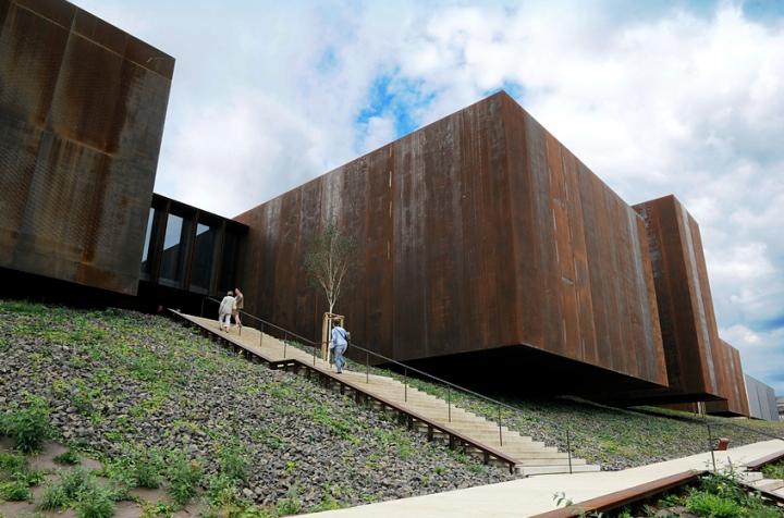 Le projet place le musée sur le flanc nord du jardin du Foirail entièrement réhabilité. © Photos Didier Raux