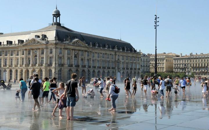 Le grand miroir d'eau de Bordeaux © Photo Didier Raux
