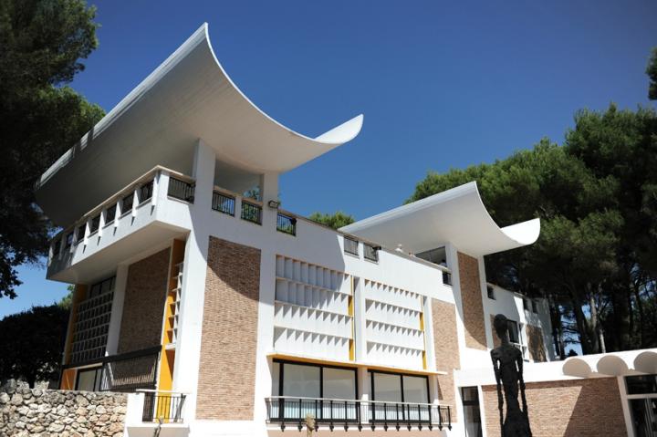 Réalisation de l'architecte catalan Josep Luís Sert. Cet ensemble architectural a été conçu et financé par Aimé et Marguerite Maeght pour présenter l'art moderne et contemporain. © Photos Didier Raux