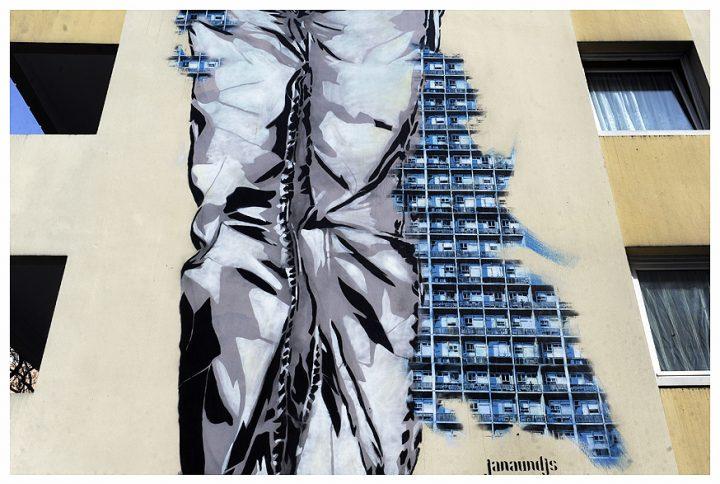 Fresque immeuble Paris 16