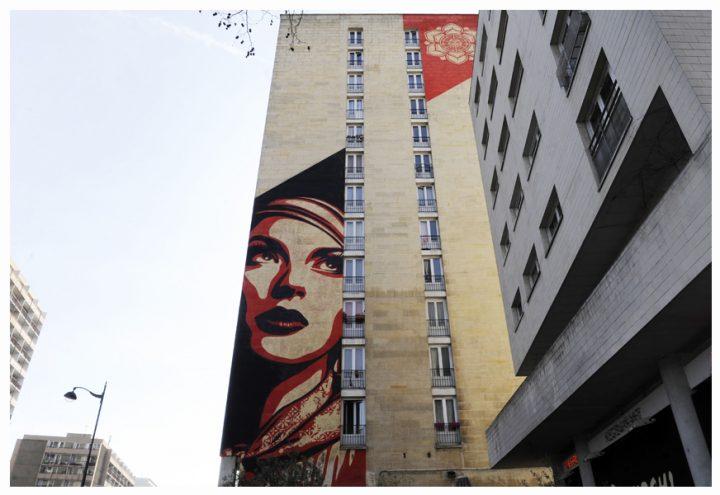 Fresque immeuble Paris 18