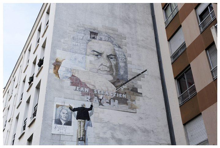 Fresque immeuble Paris 21