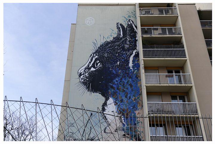 Fresque immeuble Paris 22