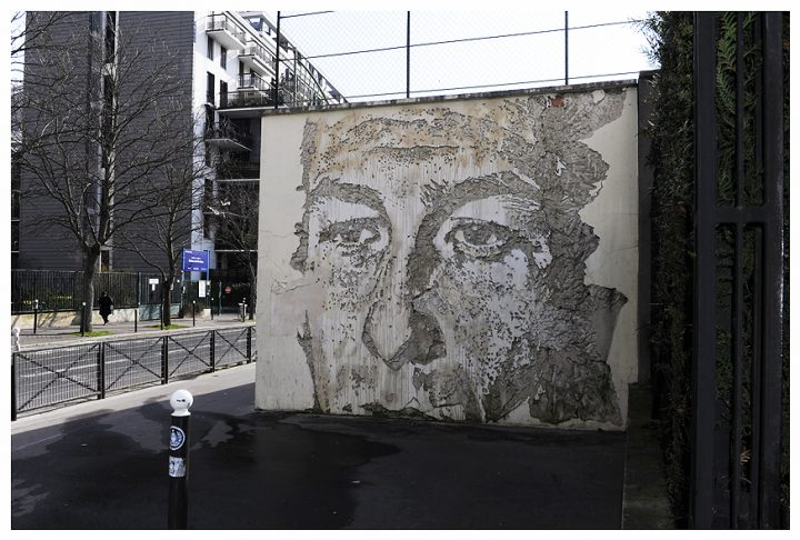 Fresque immeuble Paris 23