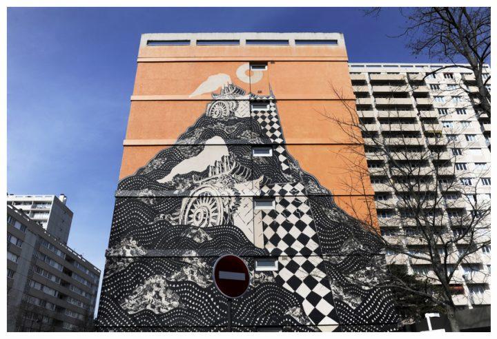 Fresque immeuble Paris 3