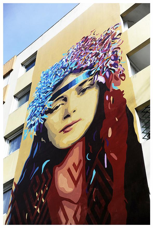 Fresque immeuble Paris 4