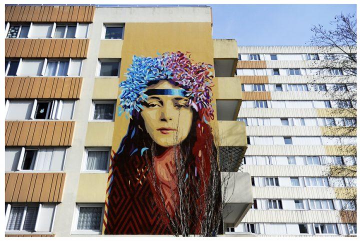 Fresque immeuble Paris 6