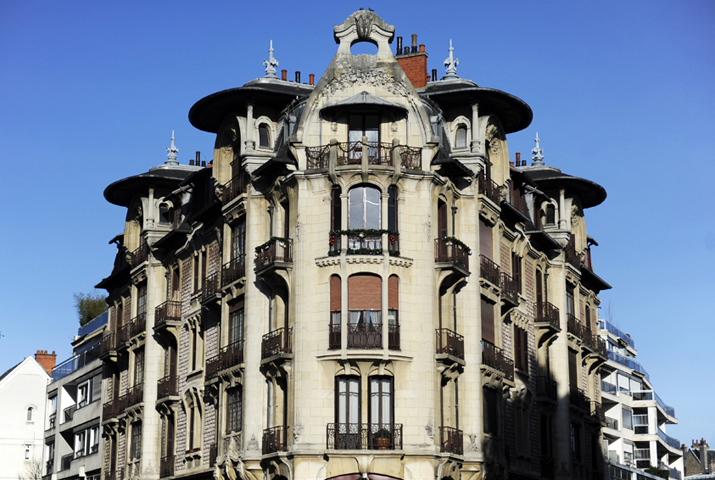 Immeuble Art Nouveau à Dijon © Didier Raux