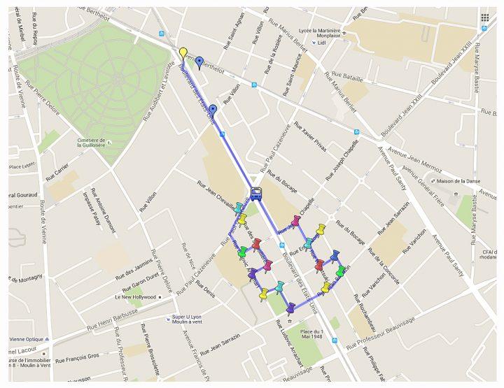 Plan musée urbain Tony Garnier