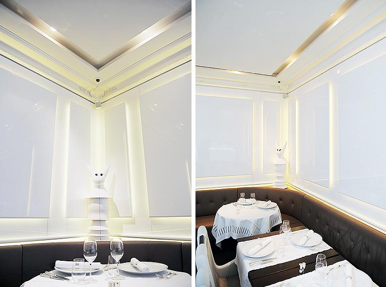 Restaurant l'Instant d'Or à Paris. © Didier Raux