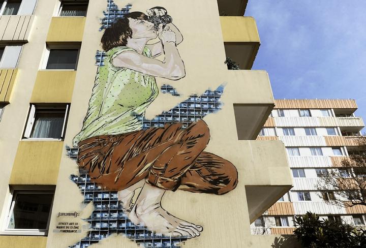 Ces artistes proposent aux curieux et amateurs de street art, de découvrir cet arrondissement de Paris à travers un parcours de fresques réalisées par des artistes de tous pays. © Photos Didier Raux