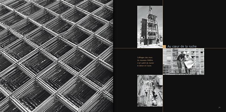 """Pages du livre Pôle Culturel """"La renaissance"""" © Photos Didier Raux"""