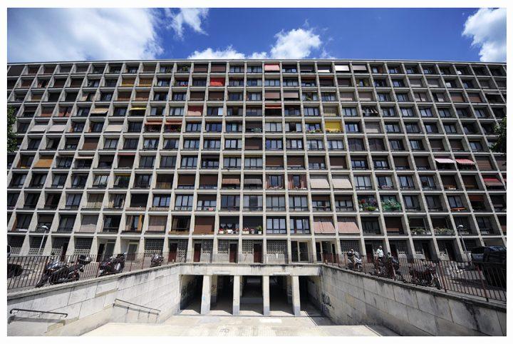 L'étonnante façade des «1000 fenêtres». © Photo Didier Raux