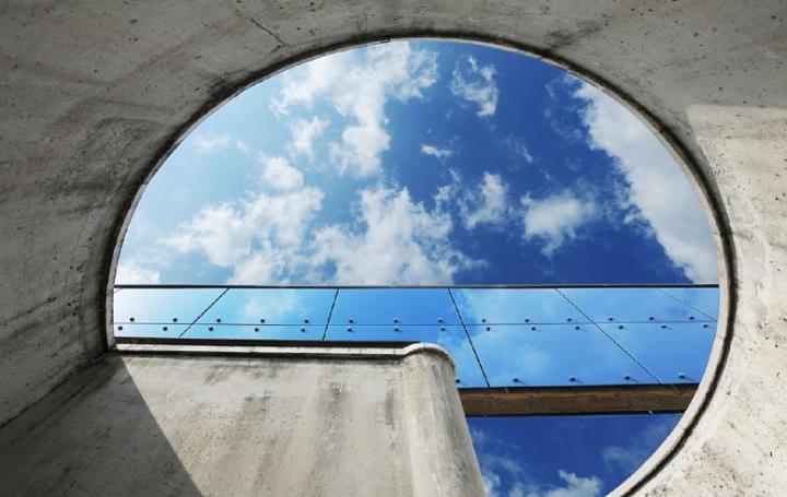 Le projet de l'architecte Henri Ciriani est retenu en 1983, il a entre autre réalisé l'Historial de la Grande Guerre à Péronne. © Photo Didier Raux