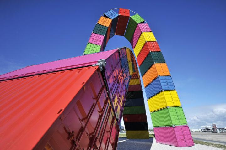 Parcours d'art contemporain Le Havre Les Containers 1
