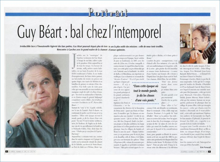 ARTICLE GUY BEART © PHOTO DIDIER RAUX 1A