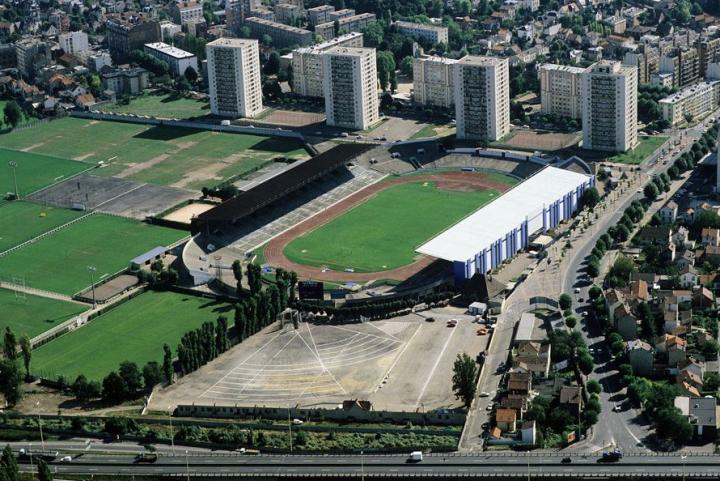 Vue aérienne du stade de Colombes en 1986 © D.Raux
