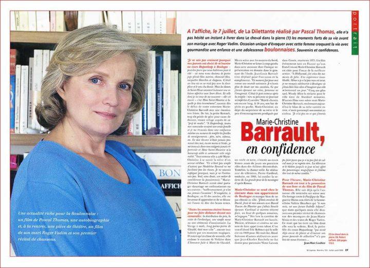 MARIE CHRISTINE BARRAULT © DIDIER RAUX 2